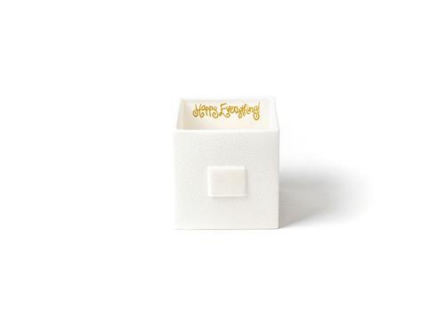 White Small Dot Mini Nesting Cube Medium by Happy Everything!