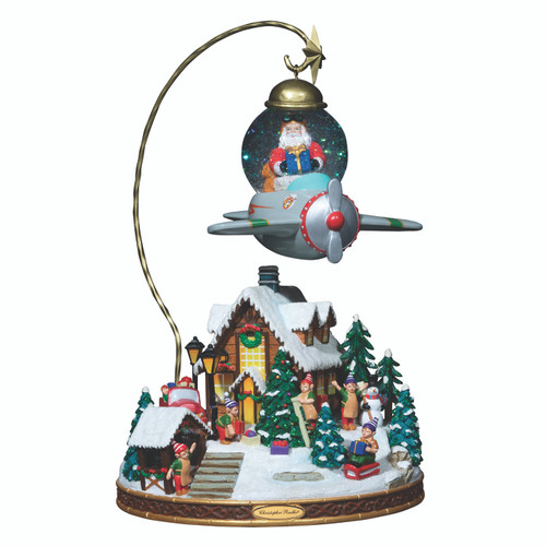 Santa's Fly By Snowglobe by Christopher Radko