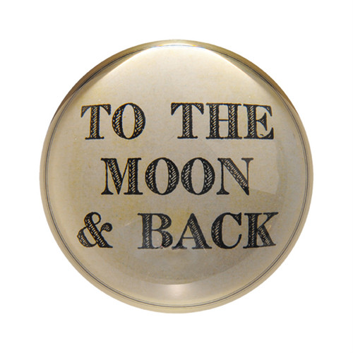 To The Moon And Back Paper Weight (Set of 2) by Sugarboo Designs - Special Order