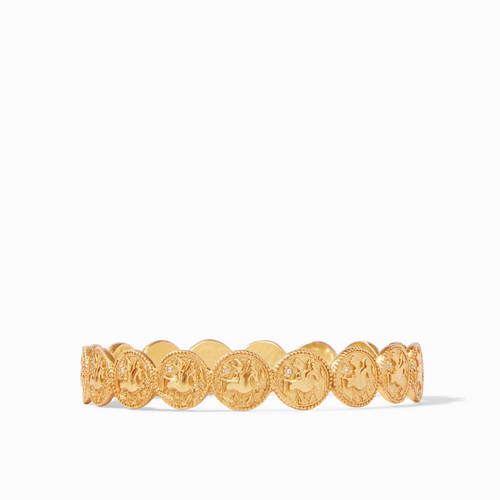 Julie Vos Coin Bangle - Gold Cz - Medium