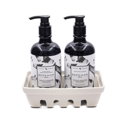 Vanilla Absolute Hand Care Duo Caddy Set by Beekman 1802