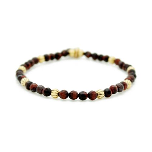 Rust Refined Beaded Bracelet - Lenny & Eva