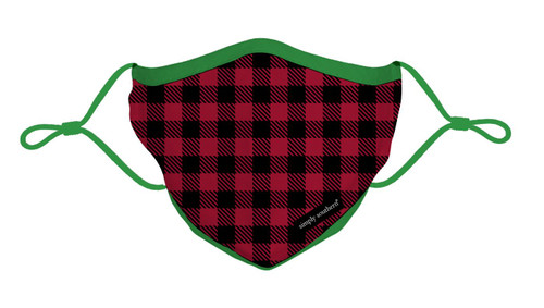 Holiday Gingham Adult Mask by Simply Southern