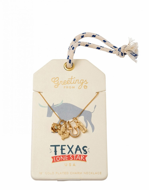 Texas Gold Charm Necklace - Oh So Witty by Spartina 449