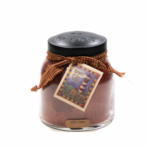 Cozy Cabin 34 oz. Papa Jar Keeper's of the Light Candle by A Cheerful Giver