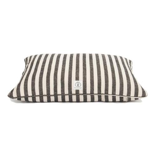 Small Black Vintage Stripe Envelope Dog Bed Cover by Harry Barker - Special Order