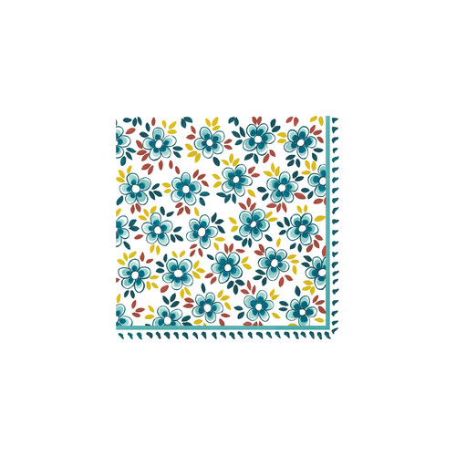 Madrid Turquoise Patterned Paper Cocktail Napkin (Pack of 20) by Le Cadeaux
