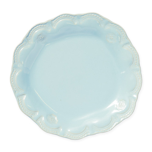 Vietri Incanto Stone Aqua Lace Dinner Plate - Special Order