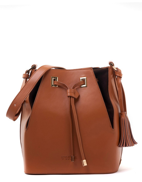 Camel Pleated Drawstring (with Nubuck) - Boutique Spartina 449