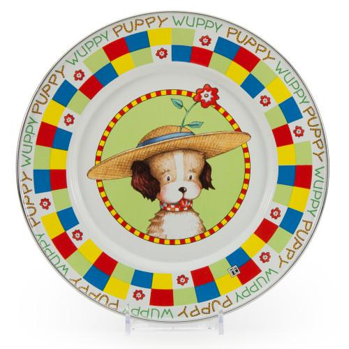 Puppy Child Plate by Golden Rabbit