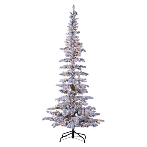 Narrow 7.5 ft. Flocked Austin Pine by Sterling Tree