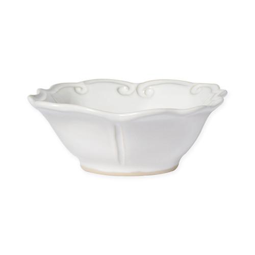 Vietri Incanto Stone White Baroque Cereal Bowl - Special Order
