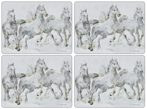 Set of 4 Spirited Horses Placemats by Pimpernel - Special Order