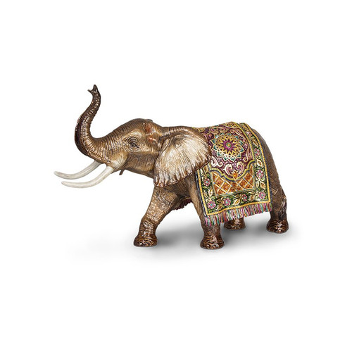Jay Strongwater Duke Grand Tapestry Elephant Figurine - Brocade - Special Order