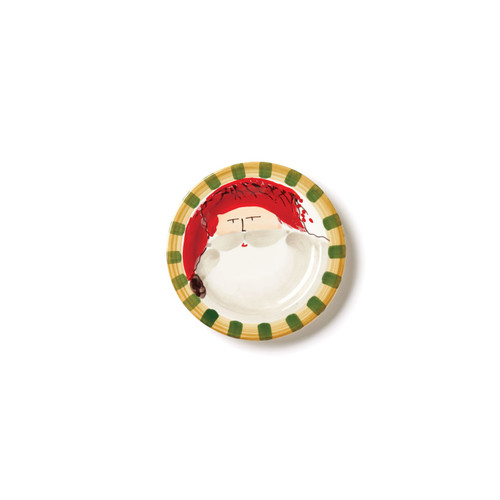 Vietri Old St. Nick Round Salad Plate - Red - Special Order