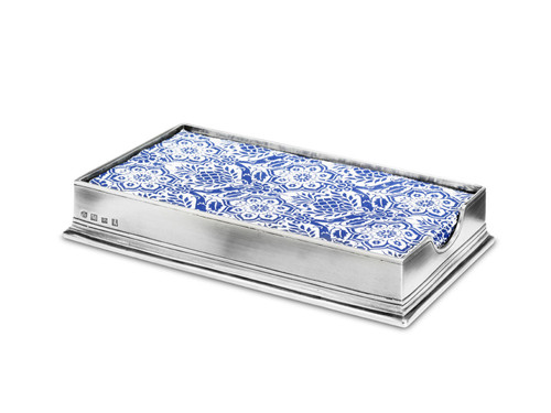 Dinner Napkin/Guest Towel Box by Match Pewter