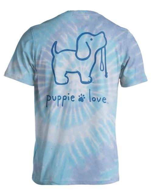 Large Wildflower Tie Dye #4 Pup Short Sleeve Tee by Puppie Love