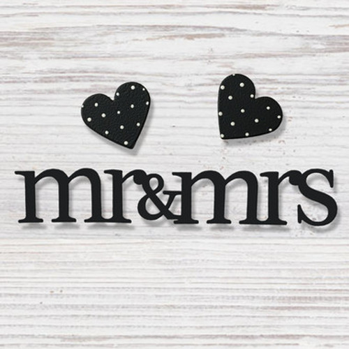 Mr. & Mrs. with Hearts Magnets 3 Pack  - Roeda