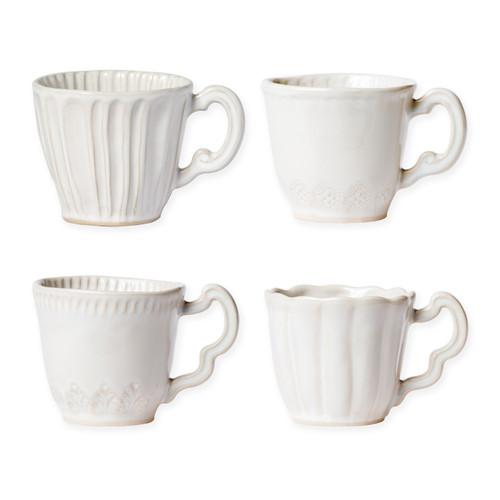 Vietri Incanto Stone Linen Assorted Mugs - Set of 4