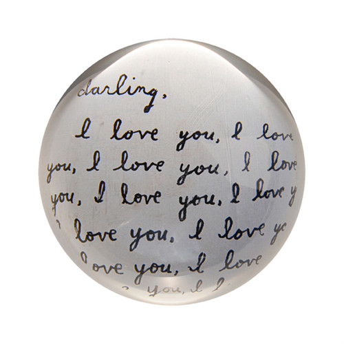 Darling I Love You Paper Weight (Set of 2) by Sugarboo Designs - Special Order