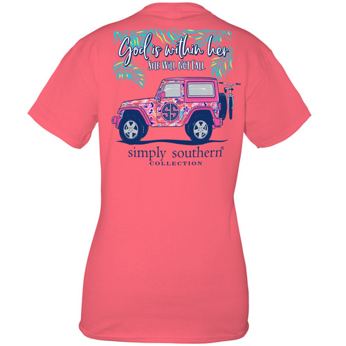 Small Fall Begonia Short Sleeve Tee by Simply Southern