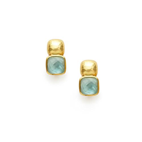 Julie Vos Catalina Earring -Iridescent Aquamarine Blue