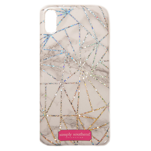 Marble Sparkle iPhone XS Max Phone Case by Simply Southern