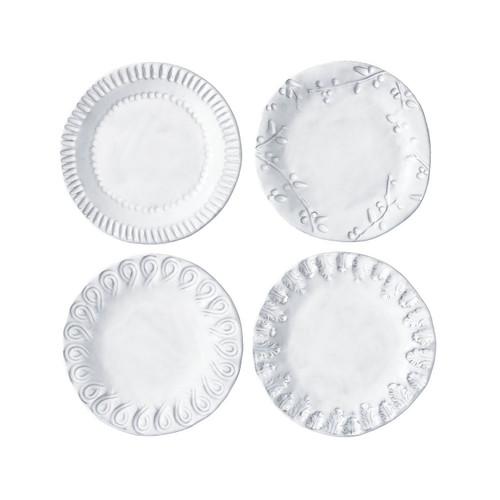 Vietri Incanto Assorted Canape Plates - Set of 4 - Special Order