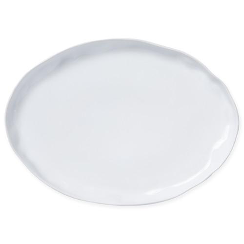 Vietri Aurora Snow Large Oval Platter - Special Order