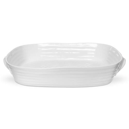 Sophie Conran White Large Handled Rectangular Roasting Dish by Portmeirion