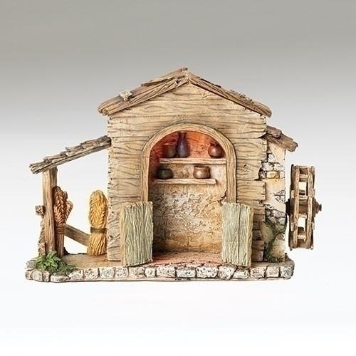 "9"" LED Farmhouse for 5"" Scale Figurines - Fontanini - Special Order"