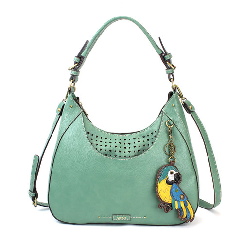 Teal Parrot (Blue) Sweet Hobo Tote by Chala