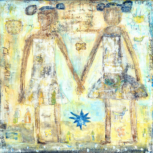 """36"""" x 36"""" Sisters Art Print by Sugarboo Designs - Special Order"""