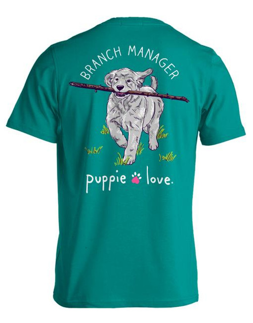 XXLarge Branch Manager Pup Short Sleeve Tee by Puppie Love
