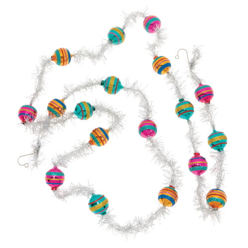 Christmas Confetti 7' Tinsel Garland  (Set of 1) by Christopher Radko  - Special Order