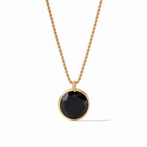 Julie Vos Coin Statement Pendant - Gold Black Onyx