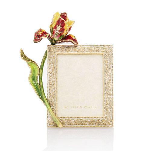 """Jay Strongwater Ilsa Tulip 3"""" x 4"""" Frame - Gold - Special Order"""