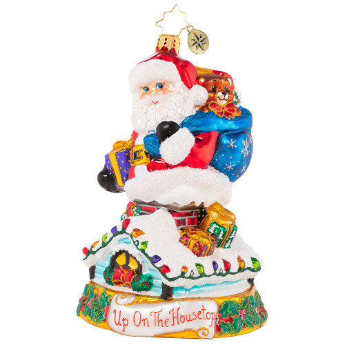 Rumblings On The Rooftop Ornament by Christopher Radko -