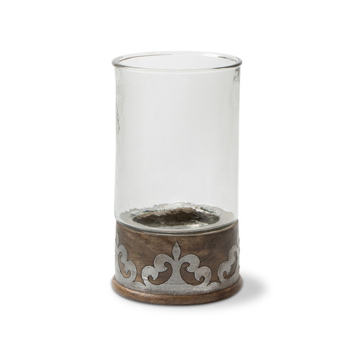 Wood and Metal Large Candleholder - GG Collection
