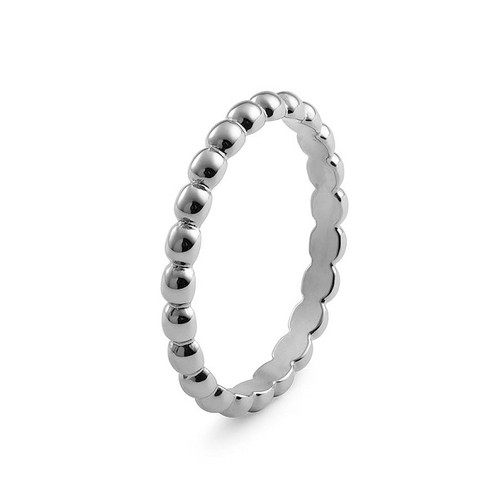 Size 7 Silver Matino Interchangeable Spacer Ring by Qudo Jewelry