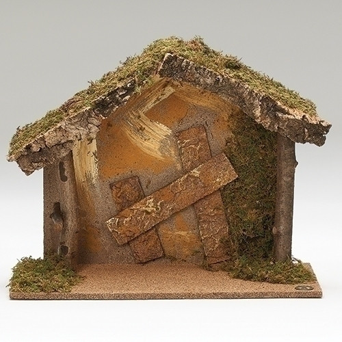 """15.75"""" Italian Stable for 7.5"""" Scale Figurines - Fontanini - Special Order"""