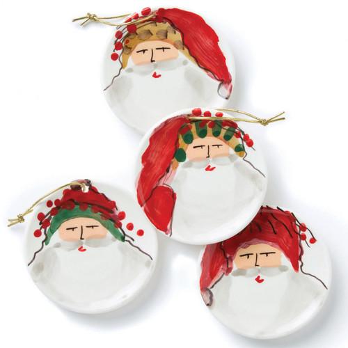 Vietri Old St. Nick Assorted Ceramic Ornaments - Set of 4