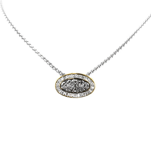 Oval Pave Slider with Chain - John Medeiros