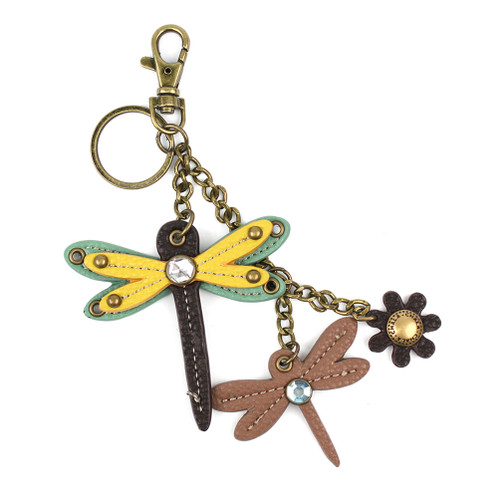 Yellow Dragonfly with Dragonfly Mini Key Chain by Chala