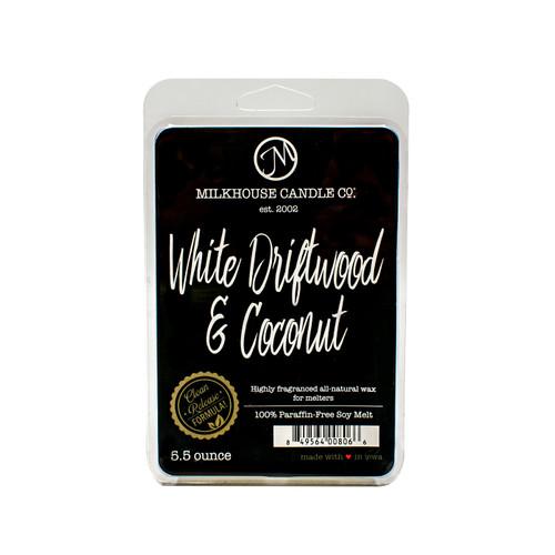 White Driftwood & Coconut 5.5 oz. Fragrance Melt by Milkhouse Candle Creamery