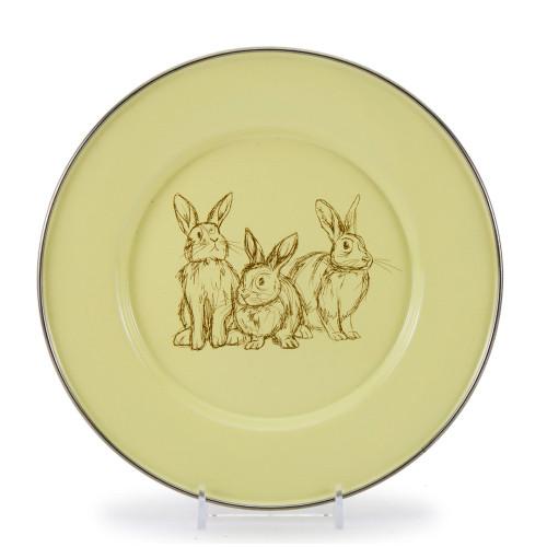 Yellow Bunnies Child Plate by Golden Rabbit