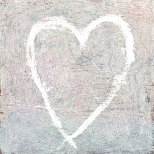 """36"""" x 36"""" White Heart Art Print by Sugarboo Designs - Special Order"""