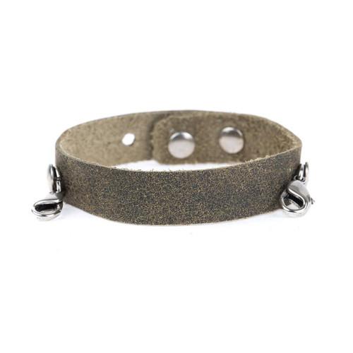 Olive Cuff Bracelet - Silver Finish - Lenny & Eva