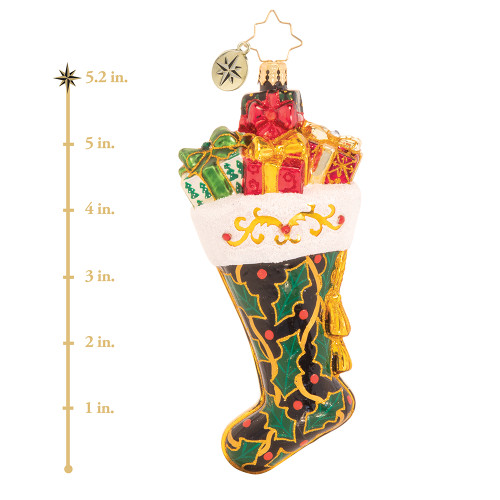 Jolly For Holly Stocking Ornament by Christopher Radko -