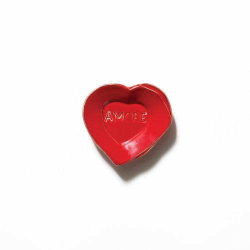 Vietri Lastra Red Heart Mini Amore Plate - Special Order